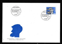 Schweiz MiNr. 1510 illustr. Ersttagsbrief /FDC    Mensch und Beruf