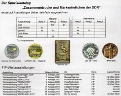 RICHTER Katalog Teil 2+3 DDR Markenheftchen/SMH 2015 Neu 50€ Heftchen Abarten Booklet+error Special Catalogue Of Germany - Documentos Antiguos