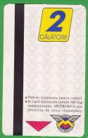 Romania  , Bucuresti  , Metro Ticket  , 2000 - Metro