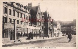 76 -  LE TREPORT - Hôtel Restaurant  Du Pont Tournant - 2 Scans  - Dos Vierge - Le Treport