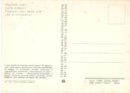 FASCIST PROPAGANDA AGAINST TUBERCULOSIS '' CRADLE & BIRD & FLOWERS '' 1939 - N.6 - Salute