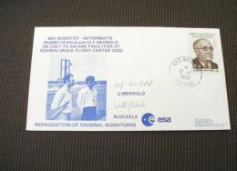 SP829a-  Cover  ESA -France- ESa Scientist -astroanuts Wurbo Ockels, Ulf Merbold Vist Ariane Facilities -Kourou 17- 1-85 - Europa
