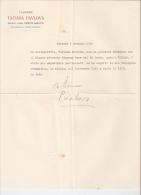 Tat'jana Pavlovna Pavlov - THEATER ACTRESS - RUSSIA -  AUTOGRAPH SIGNED LETTER - Autographes