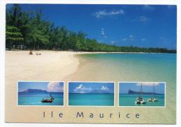 Ile  MAURICE--Le Nord (plage) ,cpm éd Arts Distributions Co Ltd----Beau Timbre Et Cachet Au Verso - Maurice