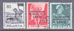 SWITZERLAND  5 O 17-19     (o)   SANTE - Dienstzegels