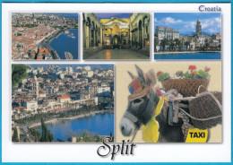 DONKEY TAXI  ( Croatian Mint Postcard ) âne Baudet Bourricot El Burro Burros Asno Esel Asino Donkeys Fauna Faune Animals - Burros