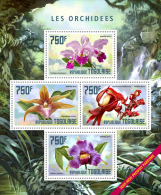 tg14402a Togo 2014 Orchids Flower s/s