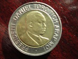 KENYA 1998  TWENTY SHILLINGS  ARAP MOI  USED COIN. - Kenya