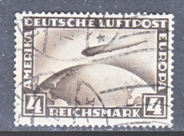GERMAN  C 37   (o)  ZEPPELIN - Airmail