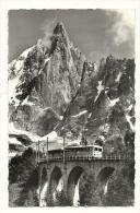 Cp, Train, Au Pays Du Mont Blanc, Le Train De Montenvers, La Mer De Glace Et Le Dru, écrite - Trains