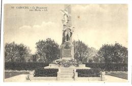 Cp, 14, Cabourg, Le Monument Aux Morts, Voyagée - Cabourg