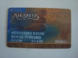 BAHAMAS - CASINO CARD - ATLANTIS PARADISE ISLAND - RARE
