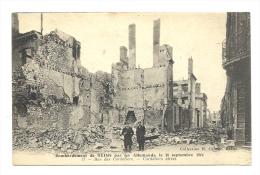 Cp, Militaria, Bombardement De Reims Par Les Allemands, Le 18/09/1914, Rue Des Cordeliers, Voyagée 1915 - Guerre 1914-18