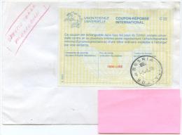 1996 COUPON RISPOSTA INT. L.1800 RARO USO COME FRANCOBOLLO ZONA SPROVVISTA BOSNIA ITALFOR 2.9.96 MISSION MILITARI ESTERO - 1991-00: Storia Postale