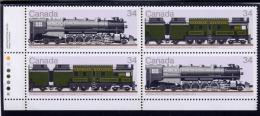 Canada, 1986, # 1119a,  Canadian Locomotives (1925-1945) --4,   BLOCK  MNH   LL - Blocs-feuillets