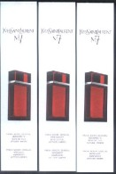 3 X Singapore Perfume Cards Cartes Parfumees --  YSL M 7 - Perfume Cards