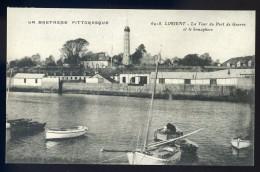 Cpa Du 56 Lorient La Tour Du Port De Guerre Et Le Sémaphore      JA15 60 - Lorient
