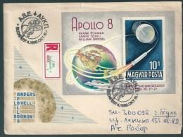 2716 Hungary SPM Transport Space Walk Apollo Registered - Storia Postale