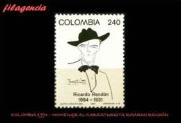 AMERICA. COLOMBIA MINT. 1994 HOMENAJE AL CARICATURISTA RICARDO RENDÓN - Colombia