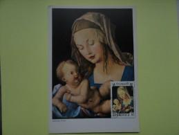 CARTE MAXIMUM CARD LA MADONE ET L´ENFANT DE DURER ILE  DOMINICAINE - Madonna