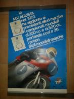 MV Agusta 1972 Poster Originale Genuine Factory Poster Affiche Originale - Motor Bikes