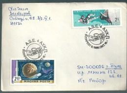 2740 Hungary SPM Transport Space Walk Gemini Moon Addressed - Storia Postale