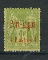 """VEND TIMBRE DE PORT - LAGOS N° 6 , SANS POINT SUR LE """"i"""" DE """"PIASTRE"""" , NEUF !!!! - Porto Lagos (1893-1931)"""