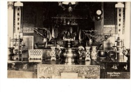 C P A-CARTE PHOTO --ASIE---MALAYSIA---snake Temple Penang---voir 2 Scans - Malaysia