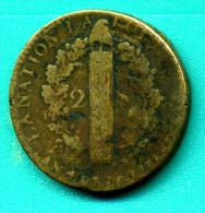 2 Sols 1792 W - 1789-1795 Monnaies Constitutionnelles