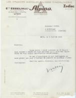Lettre/Horlogerie/ Ets Esselin & Cie / ALPINA/Zodiac/LYON/ 1946    FACT89 - Petits Métiers