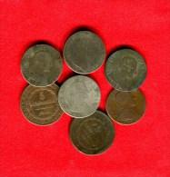 ITALIE - ITALIA - ITALIEN - SARDAIGNE - SARDINIA - SARDINIEN - LOT 5 SOLDI 1794 + 20 SOLDI 1794 + 95 X2 +  96 + 5 CENT18 - Regional Coins