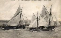 Vierville Et Saint-Laurent-sur-Mer. Barques De Pêche. - Autres Communes