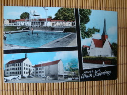Gruß Aus Übach Palenberg, Freibad, Rathaus, Karls Kapelle, Gelaufen 1964 ! - Übach-Palenberg