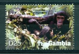 "Gambie / Gambia "" Hors Série Feuiller: Chimpanzés "" - Mnh*** - Monkeys"