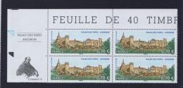 FRANCE 2009 1 Bloc De Quatre YT N° 4348** Le Palais Des  Papes Avignon CDF Vignettes - Nuevos