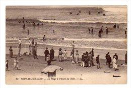 Dept 33,Gironde,Cpa Soulac Sur Mer,La Plage à L´heure Du Bain - Soulac-sur-Mer