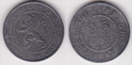 BELGIQUE : 25 CENTIMES 1917 Zinc (voir Scan) - 1909-1934: Albert I