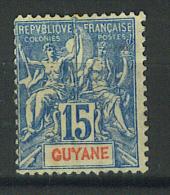 VEND TIMBRE DE GUYANE FRANCAISE N° 35 , NEUF !!!! (d) - Nuevos