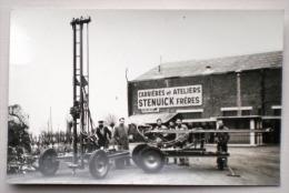 3 X FONTAINE L´EVEQUE Atelier & Carrière STENUICK Frères Perforatrice Forage à L´oeuvre Tir De Mine - Carte Photo Marbre - Fontaine-l'Evêque