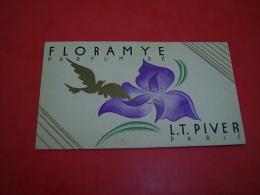 Calendrier 1937 Floramye  Parfum LT Piver Paris - Small : 1921-40