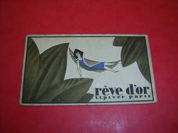 Calendrier 1937reve D'or  Parfum LT Piver Paris - Small : 1921-40