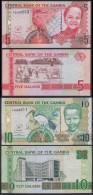 GAMBIA SET 5 10 DALASIS NEW SIGNATURE 2013 PICK NEW 25C 26C SC UNC - Gambia