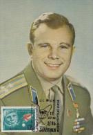1965  Russia Old Maxi Card  GAGARIN  First SPACE  Cosmonaut / Astronaut - Carte Maximum - Rusland En USSR