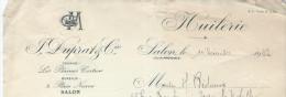 Lettre Et Mandat à Ordre/Huilerie/F DUPRAT & Cie/Huiles D'Olive/SALON De Provence/Bouches Du Rhône/ 1932    FACT101 - Food