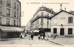 92 NANTERRE  La Gare Et La Rue Du Chemin De Fer - Nanterre