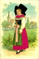N°634 HHH 318  FEMME  ALSACIENNE CARTE GAUFFREE - Costumi