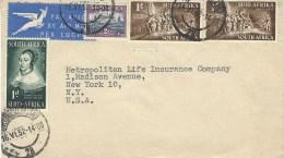 South Africa 1952 Cape Town Landing Van Riebeeck Cover - Posta Aerea