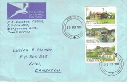 South Africa 1999 Pretoria Landscapes Architecture Wine Estate Harbour Stamp Booklet Pane Cover - Zuid-Afrika (1961-...)