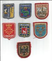 Ecussons Brodés Sur Tissus Deutschland -Wiesbaden - Carcassonne-Languedoc- 2000jahre Mainz Rhein -Chambord -Cabourg - Blazoenen (textiel)