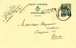 193/23 - Griffe D ´ Origine ESSCHEN Sur Entier Postal Petit Sceau ANTWERPEN 1935 - Poststempel